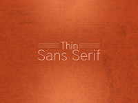 Font Collection Thin Sans Serif Lead Image