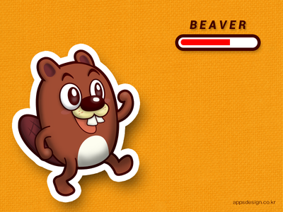 'Jake the Beaver' iOS game character design
