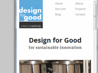 Design for Good - Frontpage Mobile