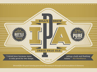 Bills Brew IPA Label