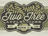 Two Tree Apple Cider Label