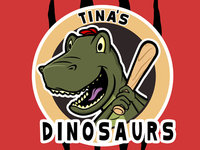Softball Dino Logo