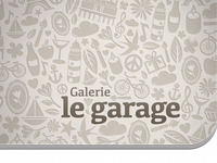 "Business Card ""Galerie le garage"""