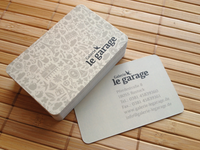 "Final Business Card ""Galerie le garage"""
