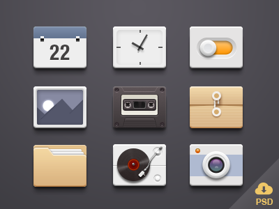 Download icons-Free PSD