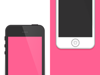 iPhone 5 Flat Design