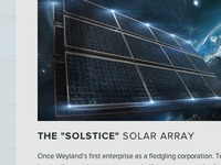 Weyland Industries - Solar Array