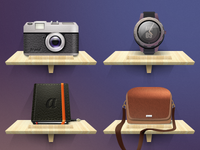 icons - gadgets for a blogger