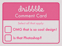 Dribbble Comment Card