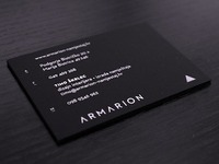 Armarion business card reverse