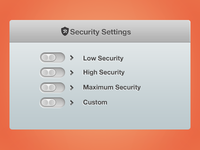 Security Setup Window