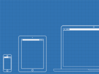 Web / UX Design Wireframe Template PSD