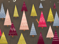 'Where the Treetops Glisten' Holiday Greeting Card
