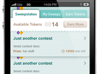iPhone app UI - sweepstakes #3