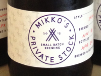 Mikko's Private Stock Bottle