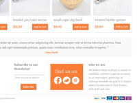 E-commerce Footer