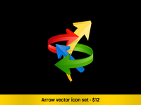 Arrow vector set