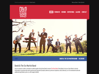 David & The Six Martini Band web layout
