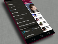 aufeminin news menu - android version