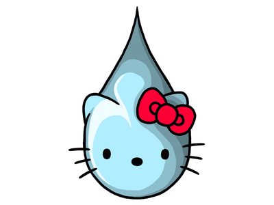Hello Kitty Teardrop