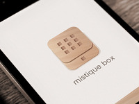 Mistique Box app design