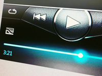 Touchscreen Music Player UI v2