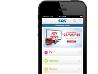 Cox's New Mobile Site