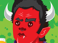 Johnny Cash Monster for VitaminWater (RED)