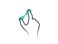 Icon for spread - touch gesture