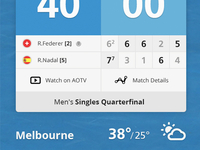 Tennis iPhone app