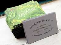 The Hop Review Biz Cards