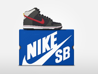 Nike SB Dunk High + Box Pixel Sneaker