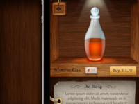 iPhone app - bottle detail screen