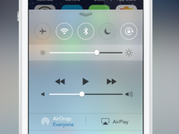iOS 7 Control Center Design Changes