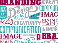 Lettering for promotional brochure