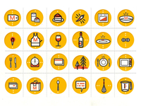 Icons for food