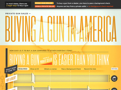 Buying a gun in America- Infographic series