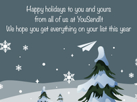 YSI Holiday Email