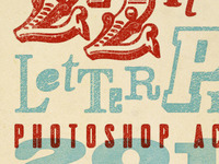 22 Letterpress Photoshop Actions