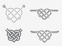 Heart Knot Variations