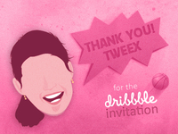 Dribbble Thanks Tweex