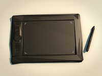 Low poly grapgic tablet