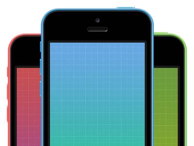 Download iPhone 5C Blueprint Wallpaper