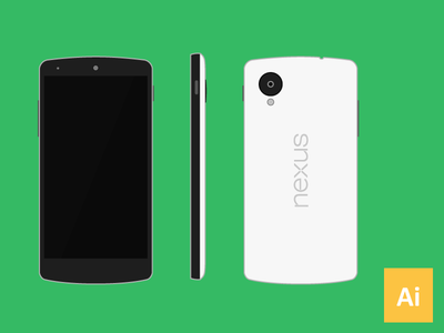 Download Nexus 5 Vector (.ai)