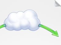 A part of diagram about cloud storage