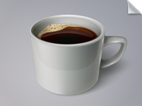 A cup of coffee (fully vector)