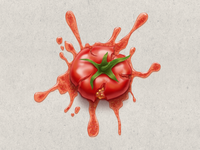 Squashed Tomato for april fools' day