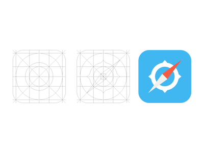Download iOS 7 Safari Icon and Grid