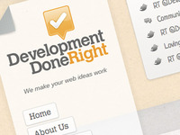 Development Done Right branding