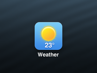 Simple Weather iOS Icon